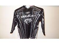 wulfsport race shirt motocross motox quad kids youth junior black age 3-4 approx