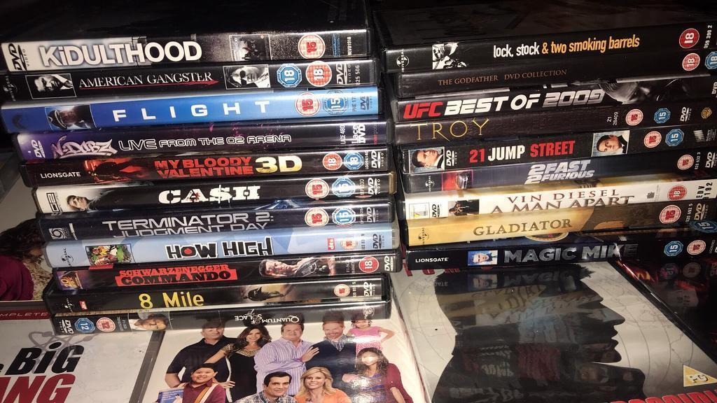 Mixture of dvds