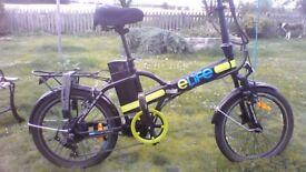 Ladies electric folding bike.