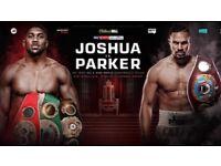 2 x AMAZING Anthony Joshua vs Joseph Parker Tickets