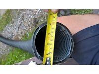 """NON Perforated Pipe - 15ft x 4"""" diam"""