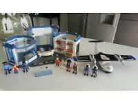 PLAYMOBIL POLICE STATION / HEAD QUARTERS & POLICE FLOATING SEAPLANE