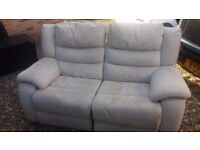 2 Seater Recliner Sofa - used