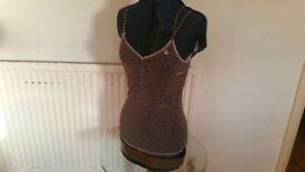 SISLEY Sheer Vest Top. Ladies. Size : S / M