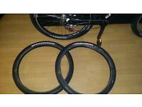 2 mountain bike tyres specialized captain elites 2.00x26