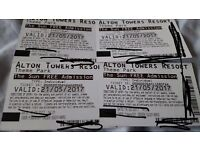 3 alton tower tickets