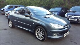 PEUGEOT 206 CC 1.6 SPORT 56 REG IN THUNDER GREY WITH GREY TRIM 1 OWNER FROM NEW WITH MOT MARCH 2019