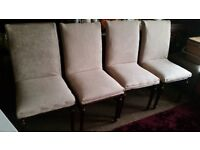 4 BEIGE CHAIRS. EXCELLENT CONDITION