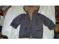 Londboard 2 in one jacket 2.3 yrs grey .tan