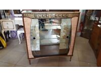 Lovely Unusual Mid Century Cocktail / Drinks / Display Cabinet