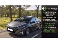 PCO CAR HIRE , PCO CAR RENTAL , UBER READY, BRAND NEW 2017 TOYOTA PRIUS, LOWEST PRICE TOYOTA '66