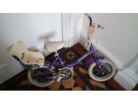 "Bike 12"" Wheels in purple comes with stabilisers"