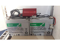 GOLF BUGGY HEAVY DUTY BATTERIES PLUS CHARGER