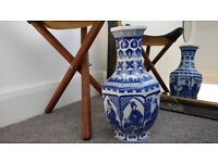 Oriental blue white vase