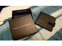 Black leather French Connection wallet