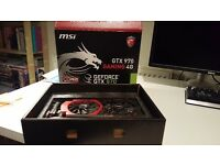 MSI 970 GTX graphics card 4GB