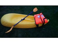 Osprey Children's Sit-on-top Kayak with paddle and bouyancy aid