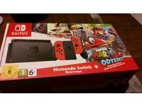 Nintendo Switch, Mario Odyssey edition. New.