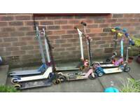 8 X SCOOTERS ↔ READ THE AD ↔ (The white scooter in photo 2 has been sold)