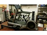 Gym package life fitness 95ti integrity series treadmill concept 2 model c rower chrome dumbell set