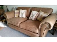 2 x 3 seater sofas in faux leather