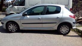 2004 Peugeot 206 1.4 long mot cheap insurance 65k
