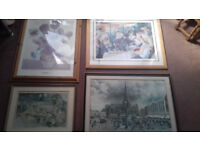 7 assorted picture frames