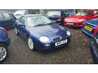 MGF 1.8. 2000. only 69000 miles. no mot