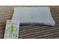 Wii fit board with silicone cover and game
