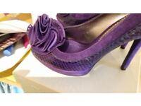 Purple ladies shoes