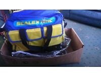 Scalextric bag and track