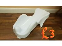 baby bath seat and changing mat