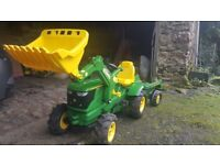 Rolly John Deere 6210R with loader, trailer and Pneumatic tyres RRP (toys R Us £329)