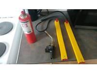 Various plumbing/heating equipment.