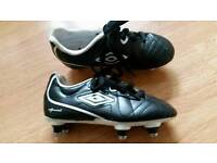 Boys studded football trainers size 11