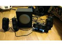Logitech X-530 PC Multimedia Home Theatre Speaker System £30