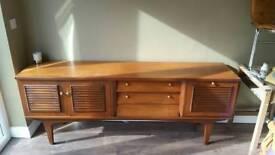 Solid wood teak side board