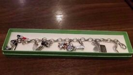 Hallmarked Silver Charm Bracelet & Charms For Sale.
