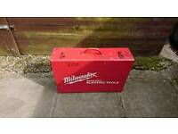Milwaukee empty metal tool box