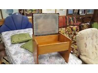 Small Dressing Table Stool With Storage In Great Condition