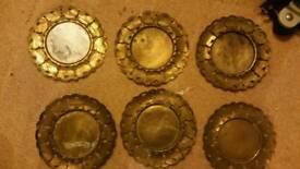 Job lot brass plates