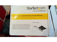 2 Port PCI Express SuperSpeed USB 3.0 Card with SATA Power