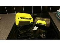 Ryobi battery and charger new never used