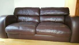 JOHN LEWIS large all real leather sofa