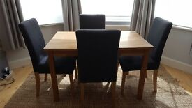 IKEA Solid Oak Dining Table and Chairs SET