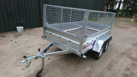 CAR TRAILER 750 8.6 ft 4.4 ft tandem wheels BRAND NEW QUALITY
