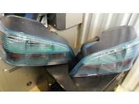 Peugeot 106 rear lights, rare blue tinted