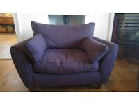 Free cuddle chair / love seat ex harveys. Please read comments