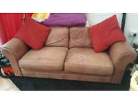 3 seater Brown soft leather sofa