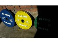Eleiko Olympic competition plates weights CAN SPLIT!! weight lifting